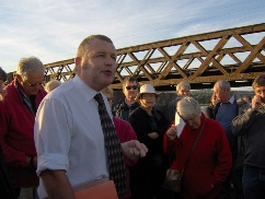 Image: Nigel Overton and PDAS members on Laira Bridge.